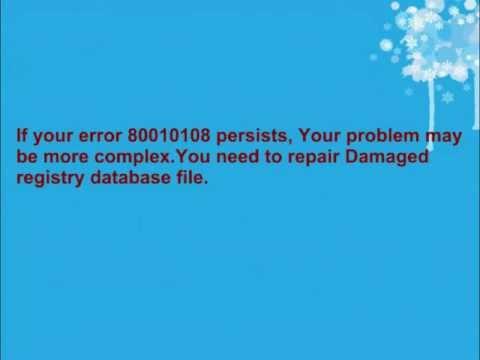 Run-time Error '-2147417848(80010108) Fix