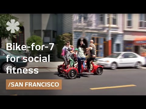 Bicycle built for 7: human-powered schoolbus & obesity tool