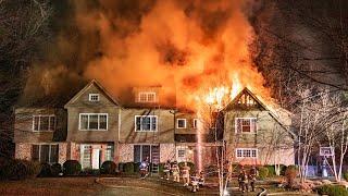 Good Hill Rd. Fire (Weston, CT) 2/10/19