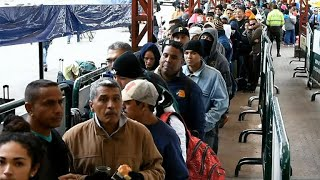 Venezuelans flee country amid economic crisis