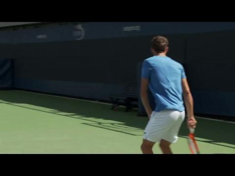 LIVE US Open Tennis 2017: Pablo Carreño Busta Practice