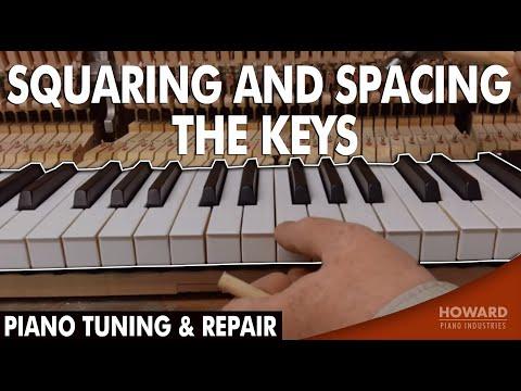 Piano Tuning & Repair - Squaring and Spacing the Keys