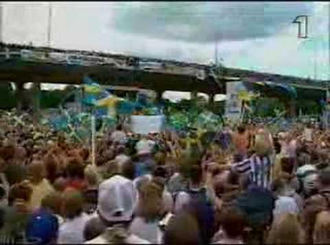 GES- När vi gräver guld i USA live när spelarna landat hemma i sverige igen 1994