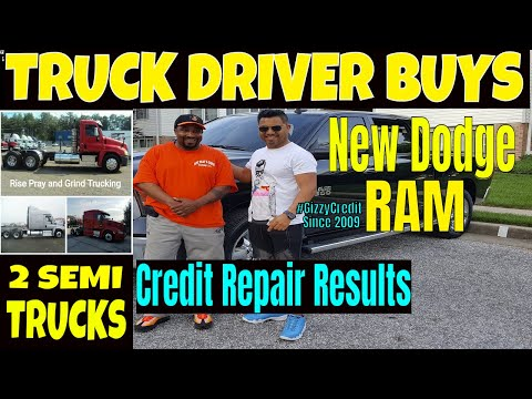 How to get Financing for  Semi trucks & $50,000 2017 Dodge Ram, after #creditrepair #gizzycredit