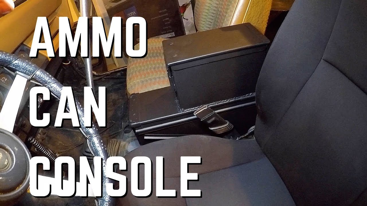 ammo can console in a wrangler youtube