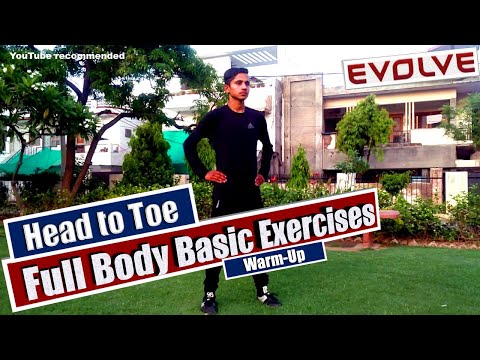 Head to Toe Basic Exercises    Full Body Warm Up Exercises   5 Minute Workout thumbnail