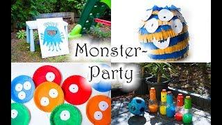 Monster Party Ideen: Deko und Spiele - Monster Kindergeburtstag