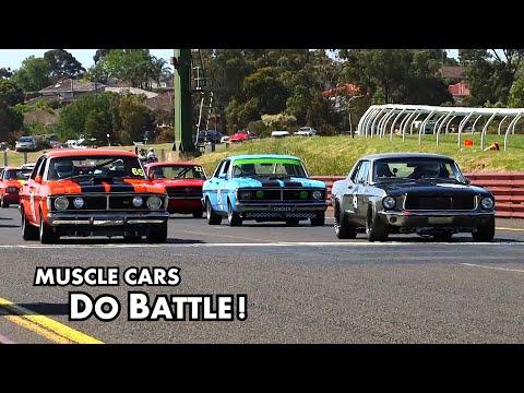 Muscle Cars Do Battle! GM vs Ford vs Chrysler - Australian vs American.