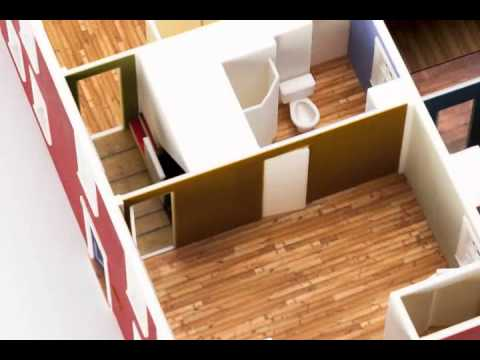 Animated 3d Printed House Model Youtube