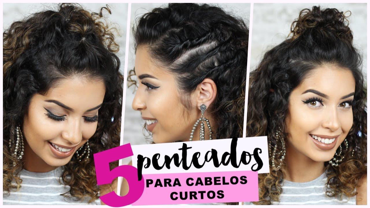 5 Penteados Para Cabelo Cacheado Curto