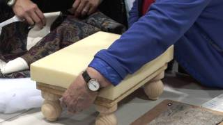 Upholster A Footstool Lesson With Evelyn Bouma