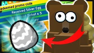 NEW *FREE* SILVER EGG CODE!! | Roblox Bee Swarm Simulator