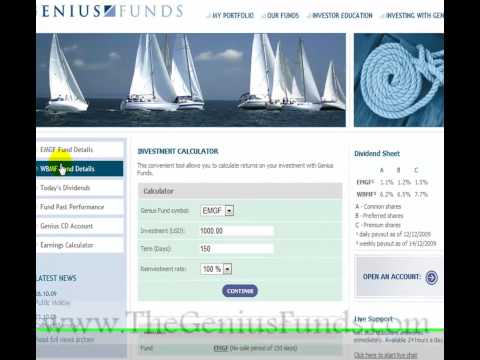 Online Investment -- Genius Funds -- Better Than Forex Trading, Stock Market, Online Casino