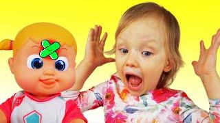 У мисс Полли была Кукла Настя играет с куклой под детскую песенку