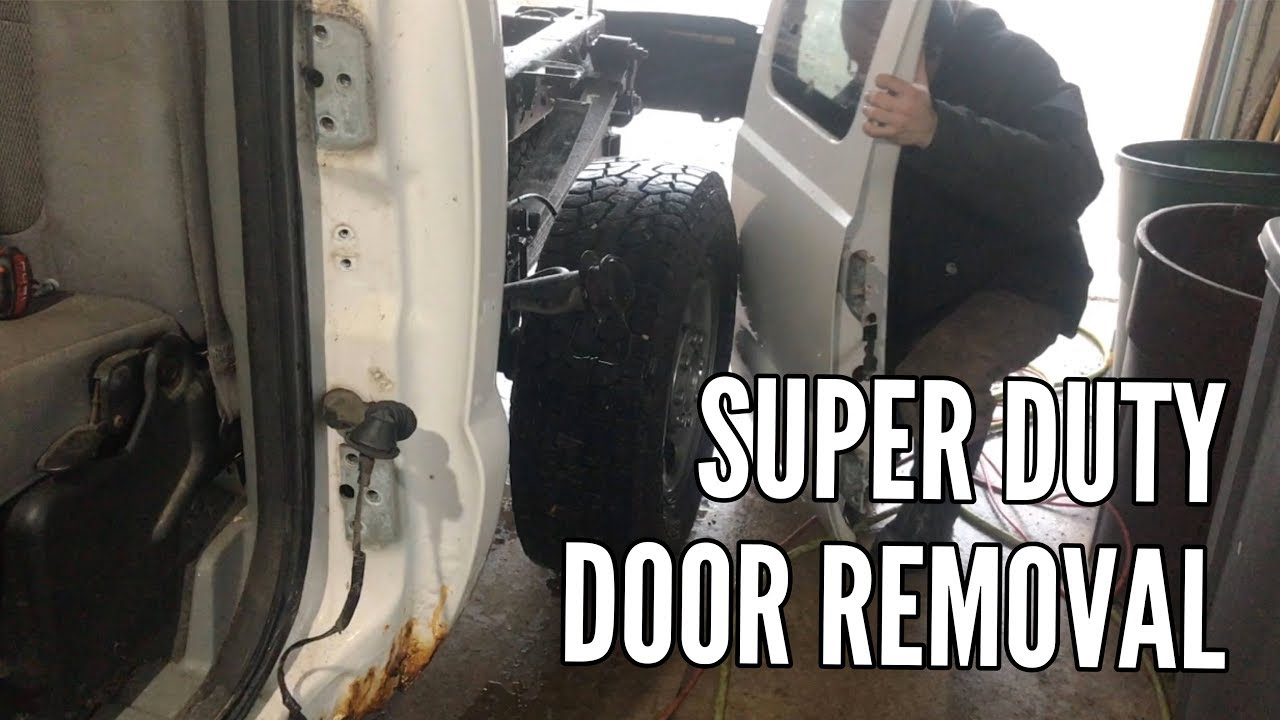 99 07 Ford Super Duty Rear Door Removal F250 F350 Youtube