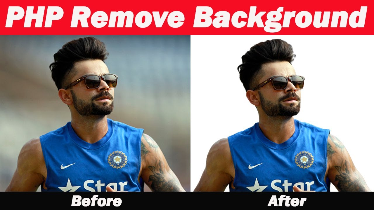 Remove the background in PHP using the Remove.Bg API.