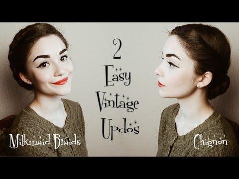 2 Easy Vintage Hairstyles | Hair Tutorial