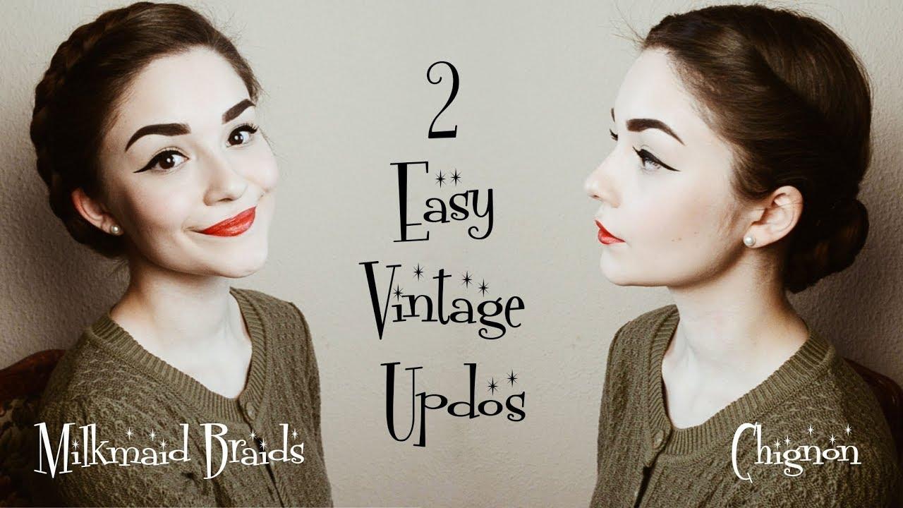 10 Easy Vintage Hairstyles  Hair Tutorial