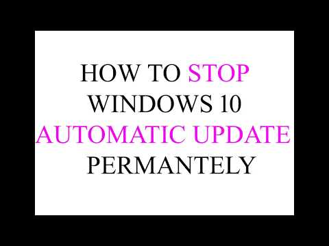 how to stop windows update service permanently