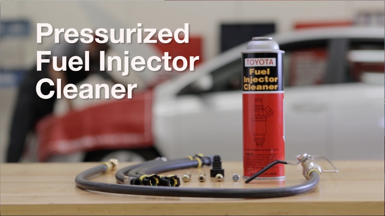 Genuine Toyota Pressurized Fuel Injector Cleaner Youtube