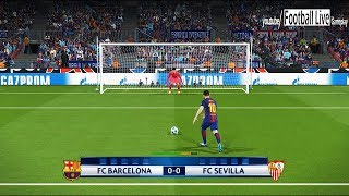 Pes 2018 | fc barcelona vs fc sevilla | penalty shootout | champions league uefa (ucl)