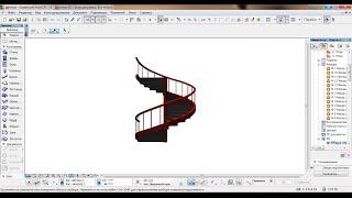 Архикад 16 инструмент морф винтовая лестница, урок 2й