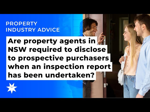 Disclosing to prospective purchasers when an inspection report as been undertaken