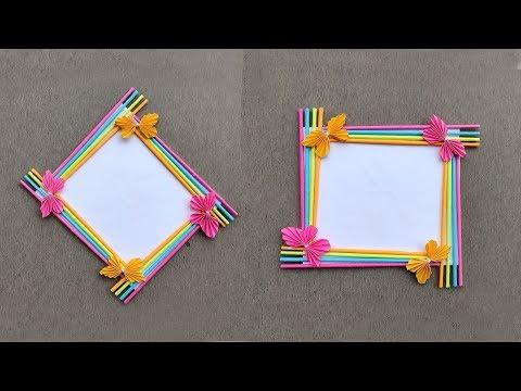 Paper Photo Frame DIY // Unique Paper Photo Frame Craft Ideas