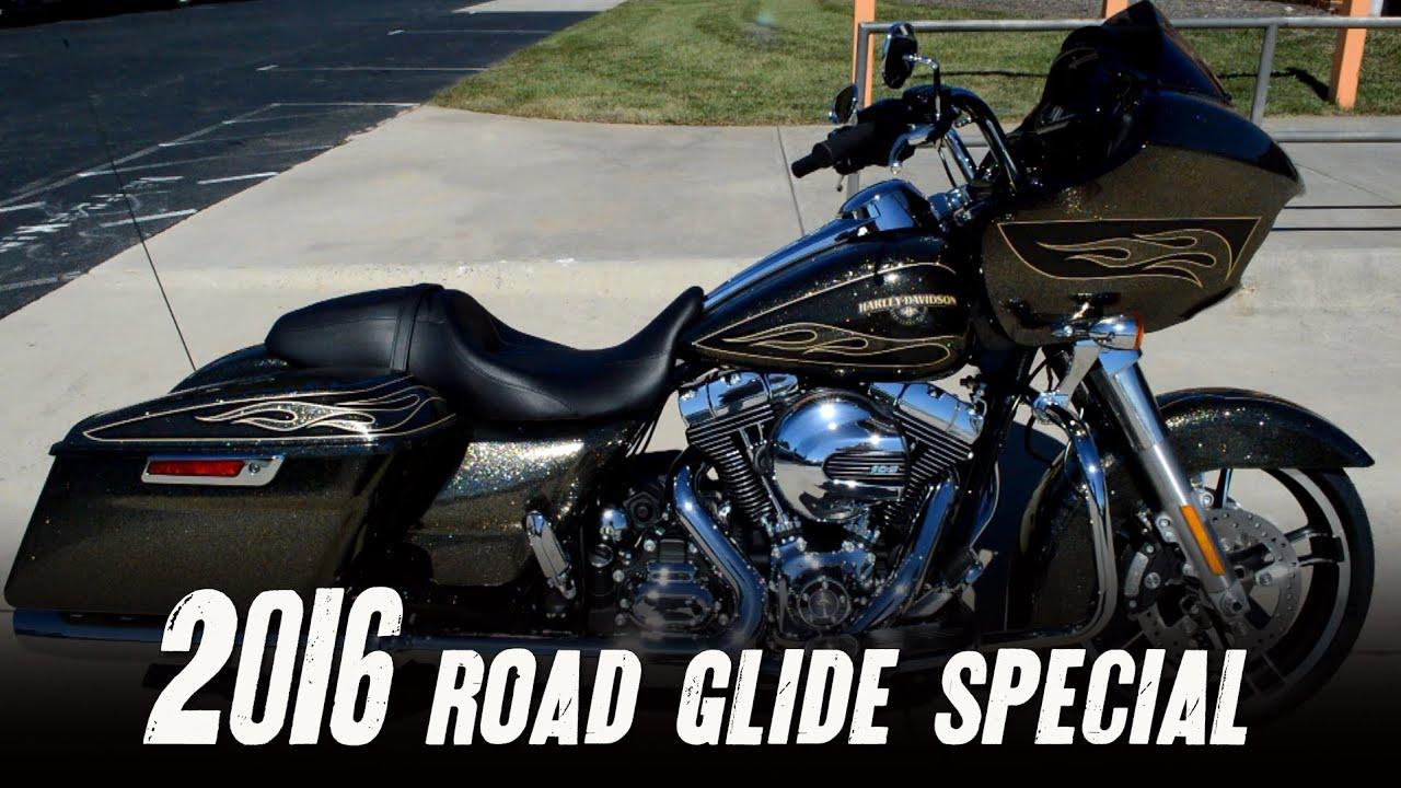 Download SOLD! 2016 Road Glide Special Hard Candy Custom Black Gold Flake Harley-Davidson FLTRXS