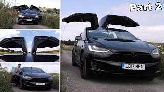 can you Drive with ALL Doors Open & Up?! | Tesla Model X Falcon Wing Doors Part 2/2