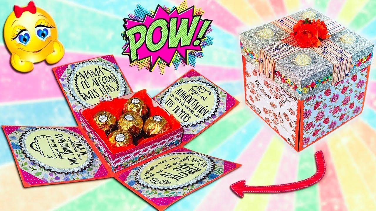 Diy caja explosiva sorpresa para el d a de la madre o d a - Cajas decoradas para bebes ...