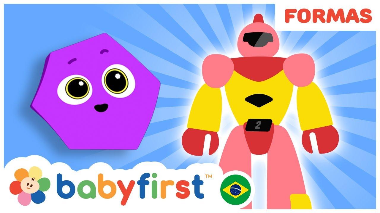 Aprenda as cores e as formas geometricas | Desenhos Educativos | BabyFirst Brasil