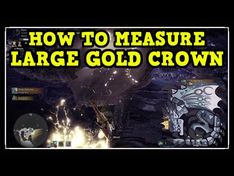 MHW Iceborne Silver Rathalos Large Gold Crown (How To Measure Gold Crown Guide)