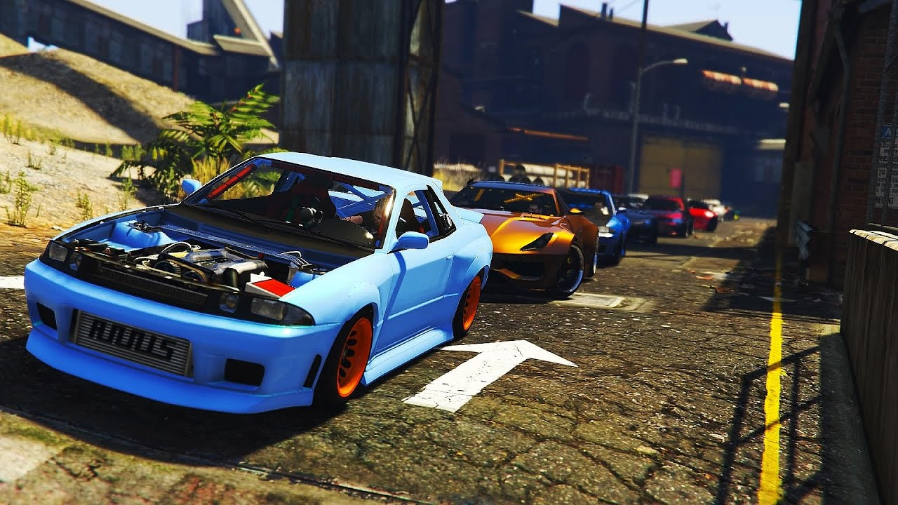 Gta 5 car meets | car show 2017 | car meets ps4 | stag car ...
