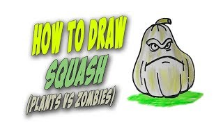 How To Draw Squash Easy (Plants vs Zombies) – Mr. Cute Cartoon Drawing Club