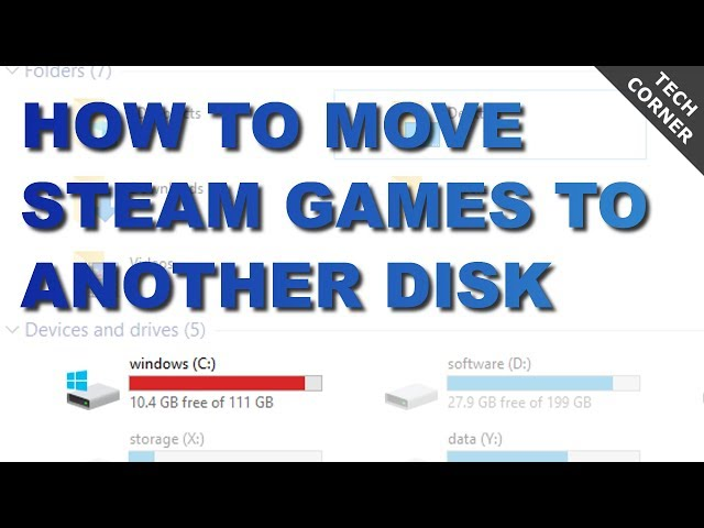 how to move games to another hard drive steam