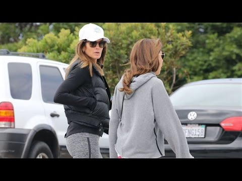 Cindy Crawford And A Girlfriend Strolling The Boardwalk