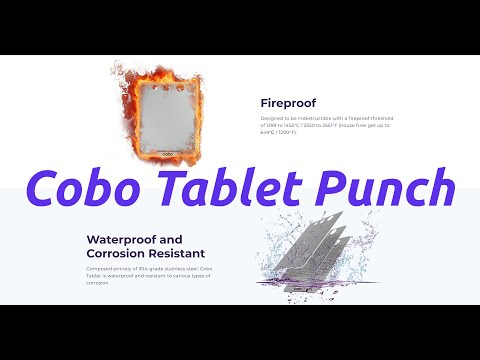 Cobo Tablet Punch Overview