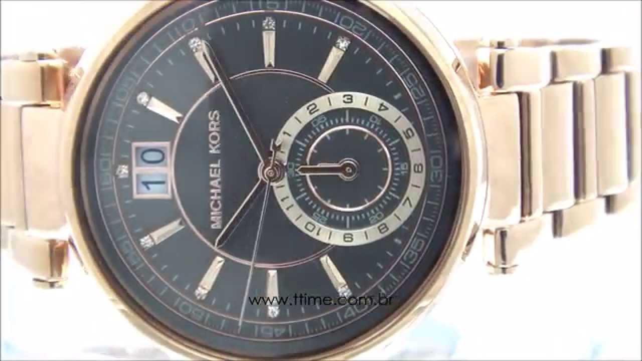 b5339b8e4 Relógio Michael Kors Sawyer MK6226/4CN - YouTube