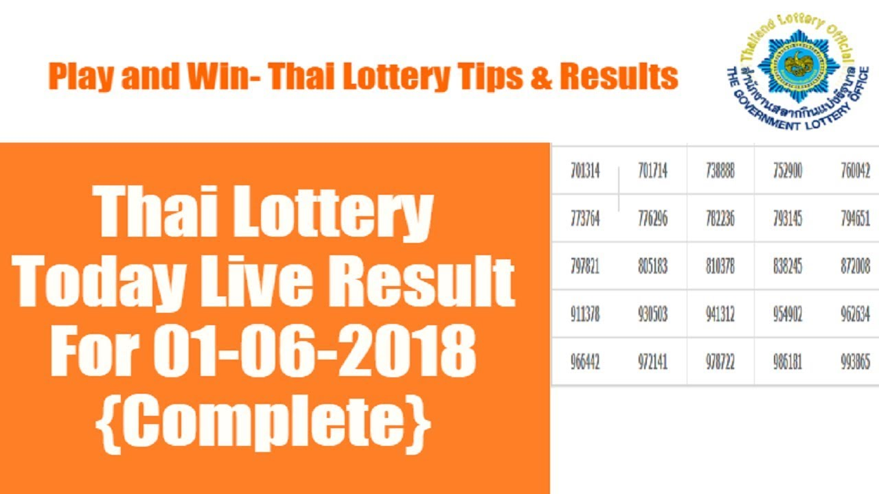 Live Thailand Lottery