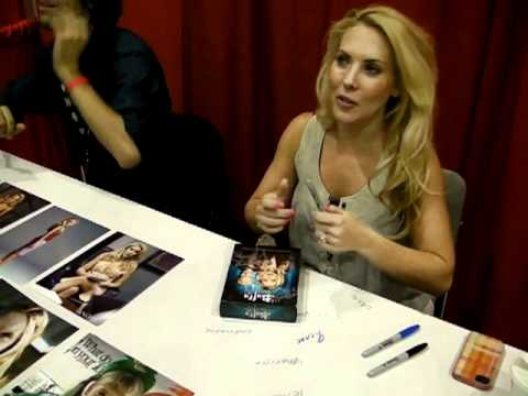 Mercedes McNab signing our Buffy Box Set