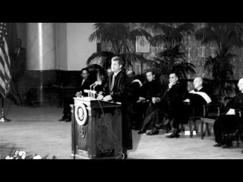John F. Kennedy addresses the National Academy of Sciences Oct.  22, 1963