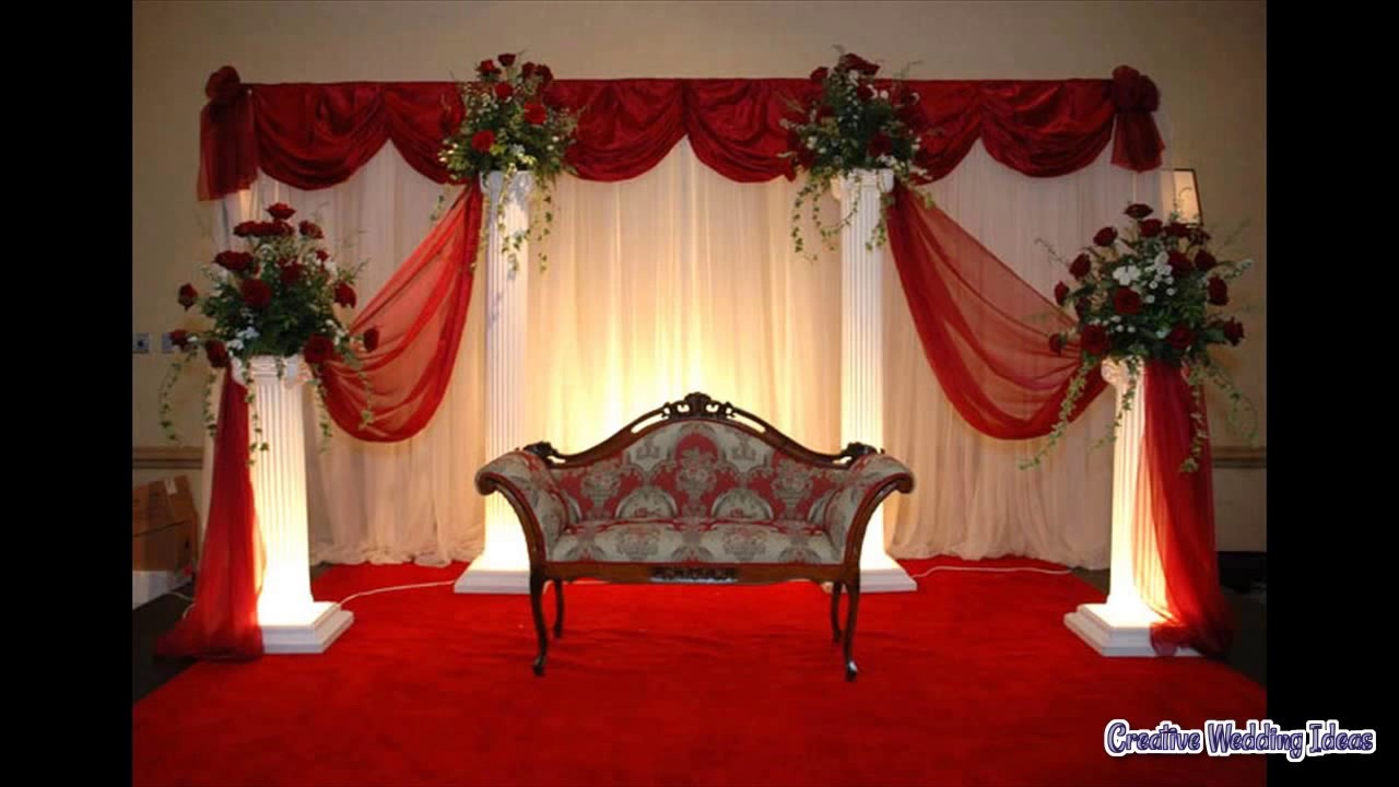 Simple Stage Decoration At Home Creative Wedding Ideas