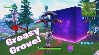 *NEW* CUBE HAS STOPPED AGAIN! @ GREASY GROVE! FORTNITE BATTLE ROYALE