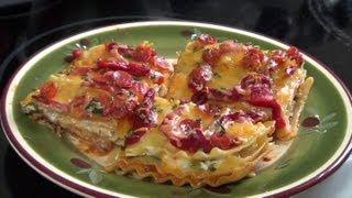 Lasagna. Con una buena descripción y consejos útiles para no bake.