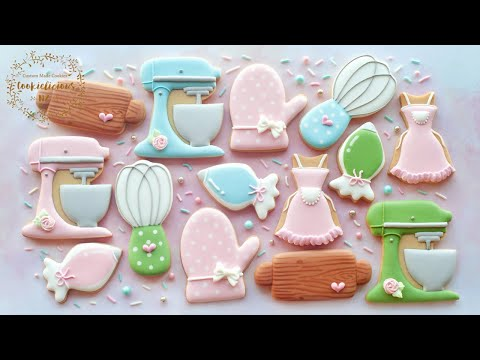 how-to-make-baker's-kitchen-set-cookies-~-mother's-day-gift-idea