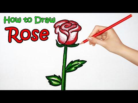 How to Draw a Rose easy. Valentine's Day วาดรูปดอกกุหลาบกุหลาบ 情人节