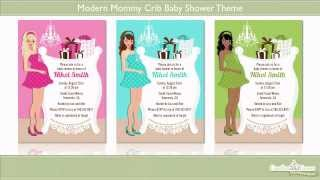 Modern Mommy Crib Baby Shower Theme Showcase