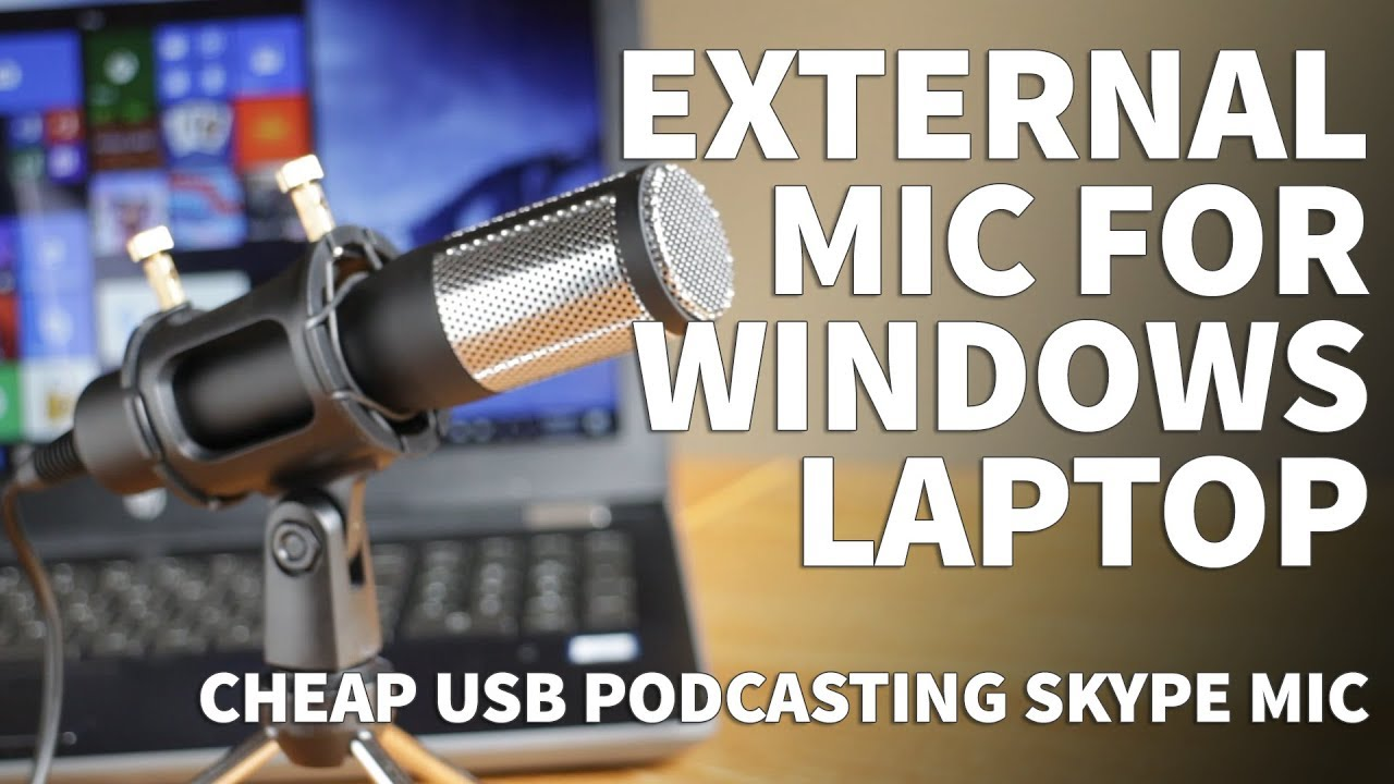 External Microphone for Windows Laptop – Podacasting Facebook Skype USB  Microphone for Vocals