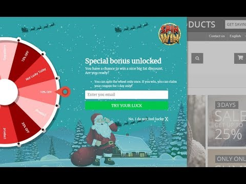 Prestashop Interactive Exit Pop-up (Spin and Win) - Tutorial